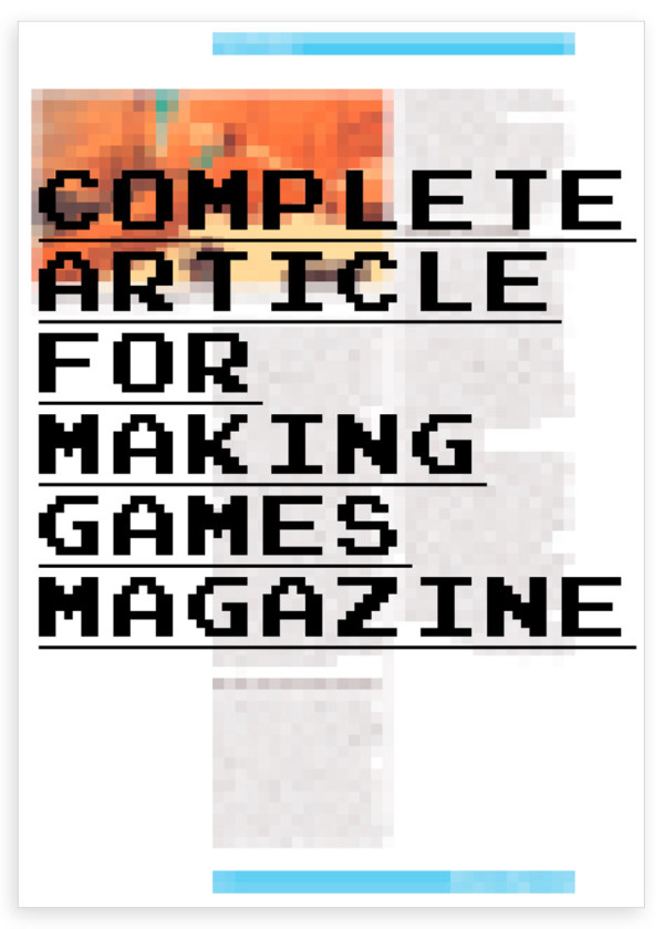 MAKING GAMES ARTICLE